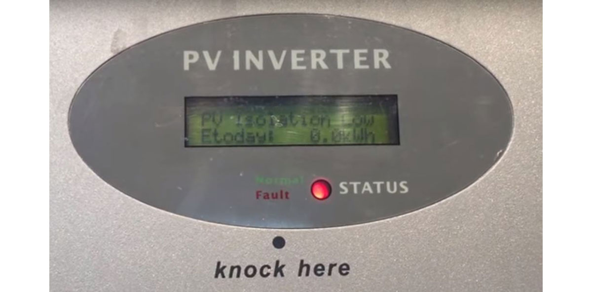 """Cách xử lý lỗi """"PV Isolation Low"""" trên Inverter Growatt"""