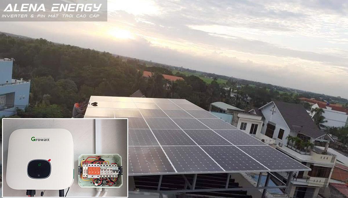 Hệ thống điện mặt trời trên mái nhà