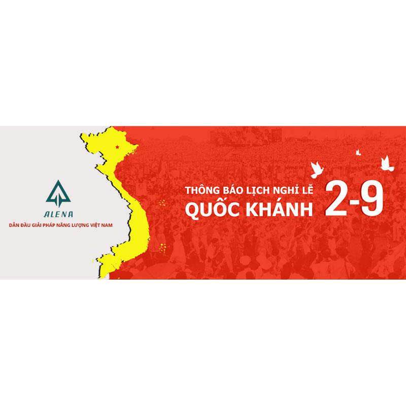 Công ty Alena thông báo lịch nghỉ lễ Quốc Khánh 2-9-2020
