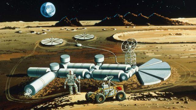 Các tàu vũ trụ trong tương lai có thể trở thành các trạm phát điện cố định trong vũ trụ như thế này. Ảnh: Science Photo Library