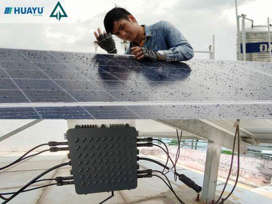 Hệ thống điện mặt trời mini sử dụng micro-inverter