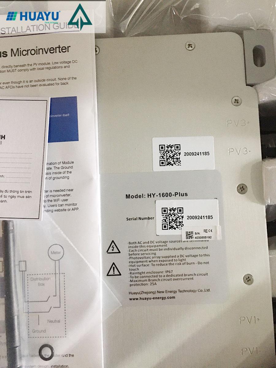 Review sản phẩm micro-inverter Huayu HY-1600-Plus