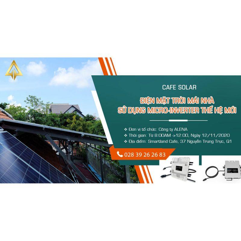 """""""Cafe Solar"""" - Điện mặt trời mái nhà sử dụng micro-inverter thế hệ mới"""