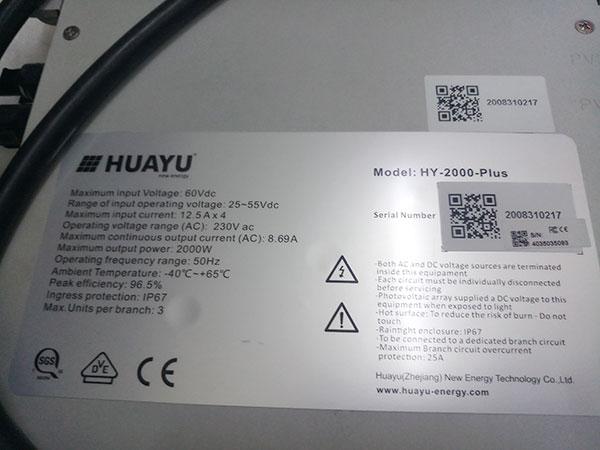 Review sản phẩm micro-inverter Huayu HY-2000-Plus