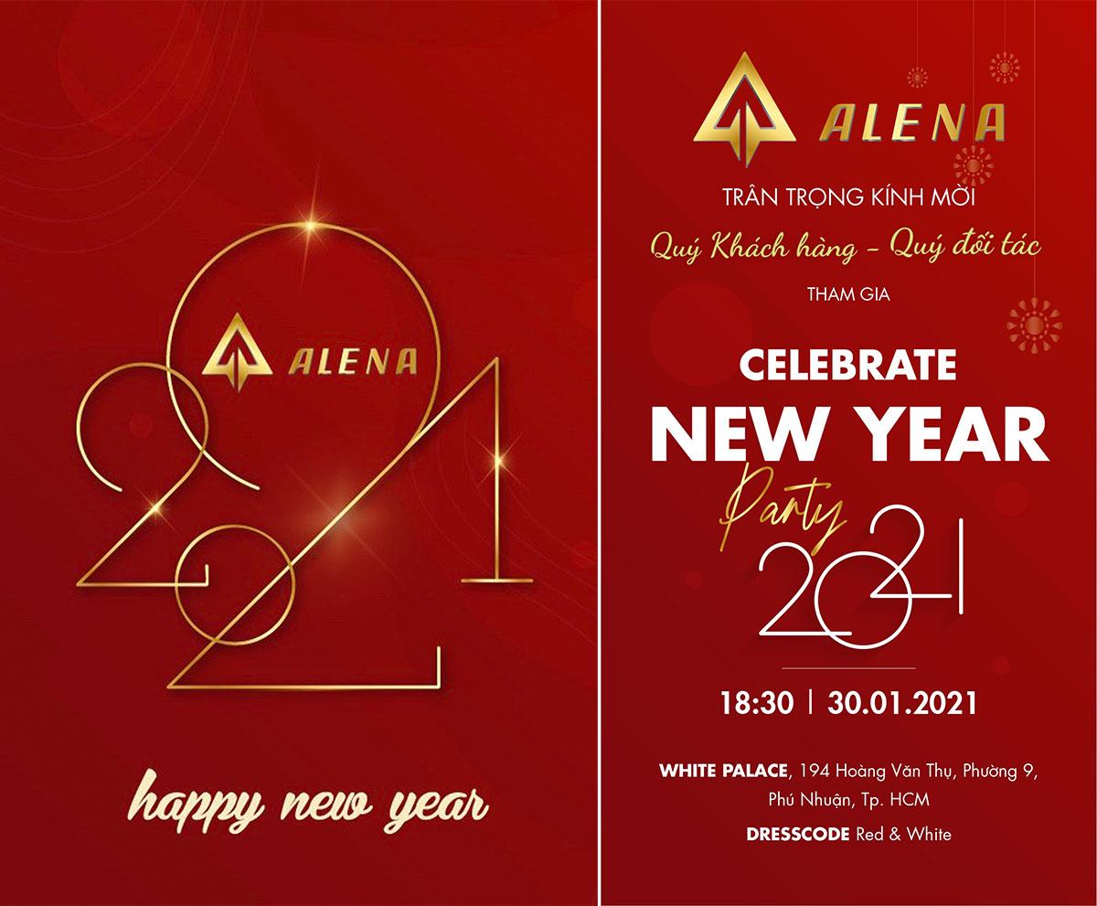 Thư mời Backdrop Sự kiện Gala New Year Party 2021 – Alena Energy