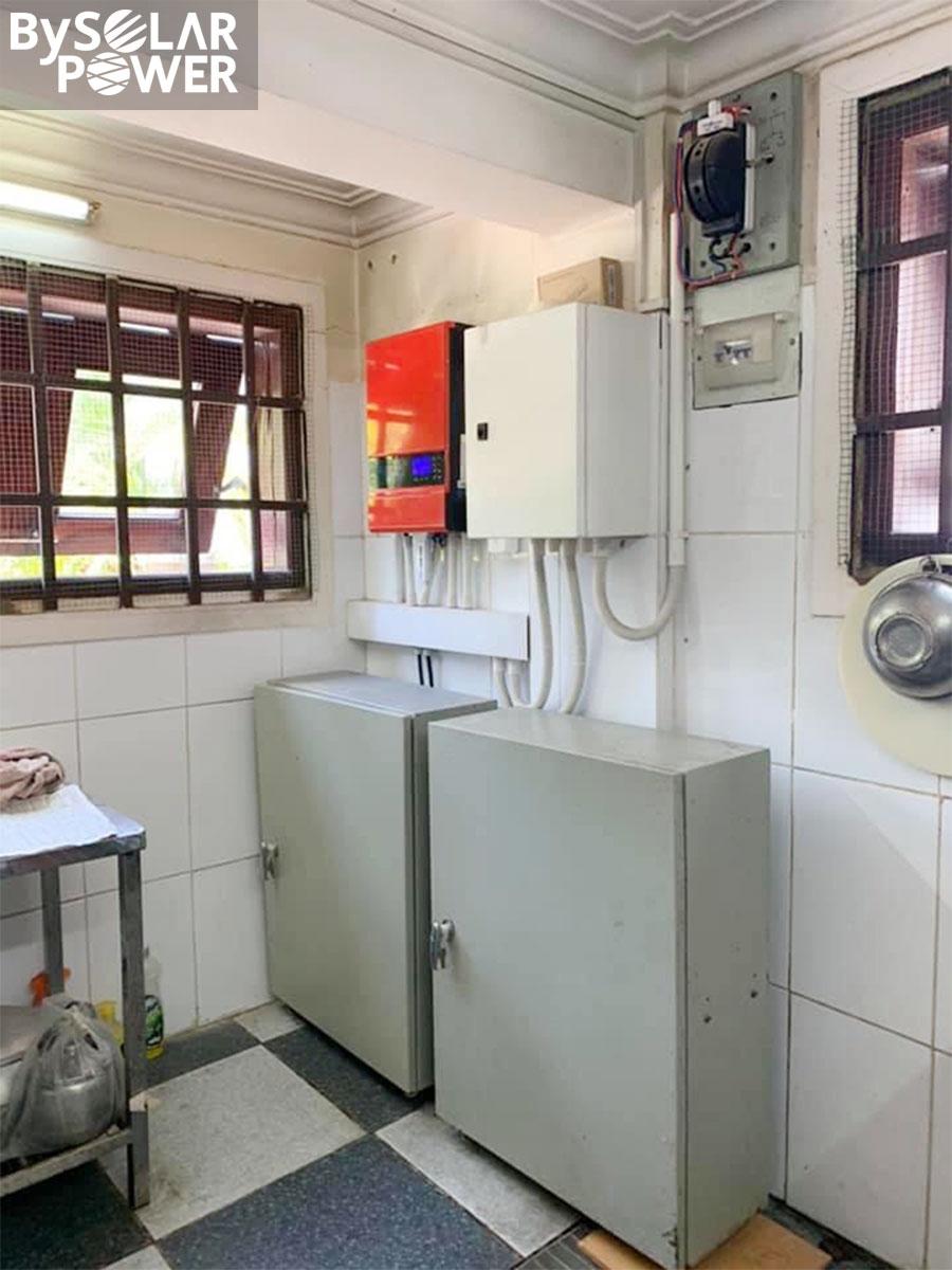 hệ thống điện mặt trời off-grid sử dụng inverter BSP 5S tại Bình Phước