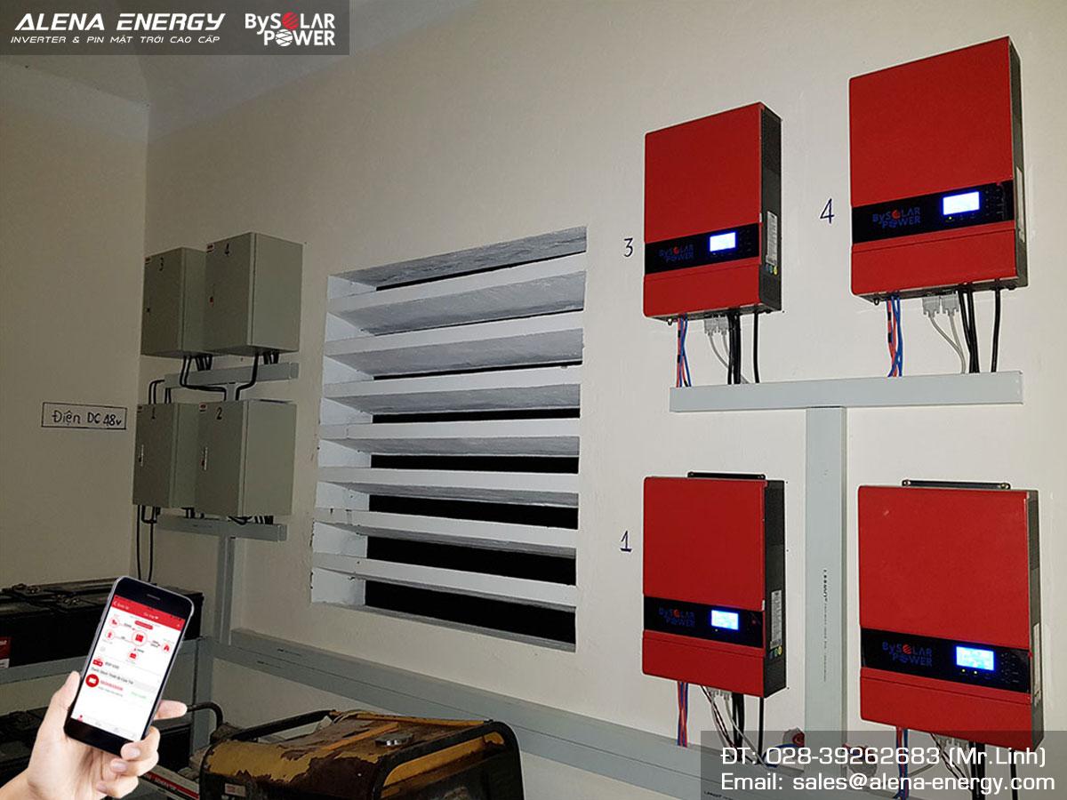 Hệ thống điện mặt trời offgrid sử dụng inverter BSP 5S tại Cù lao xanh