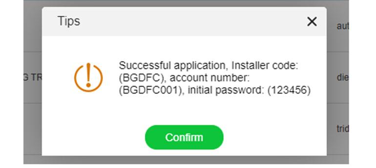 Hướng dẫn khởi tạo và sử dụng tài khoản installer trong hệ thống OSS Growatt