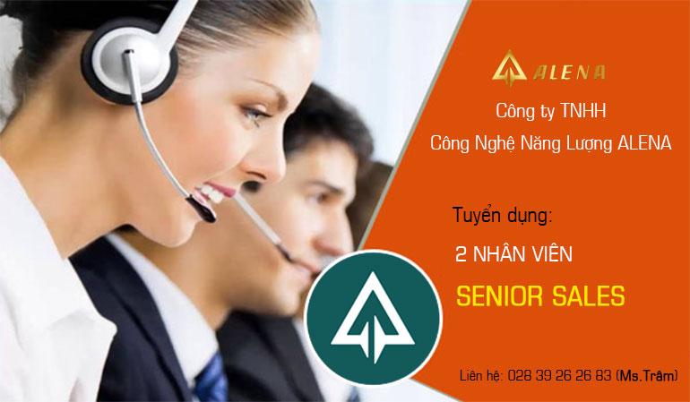 Công ty Alena tuyển gấp 2 Nhân viên Senior sales