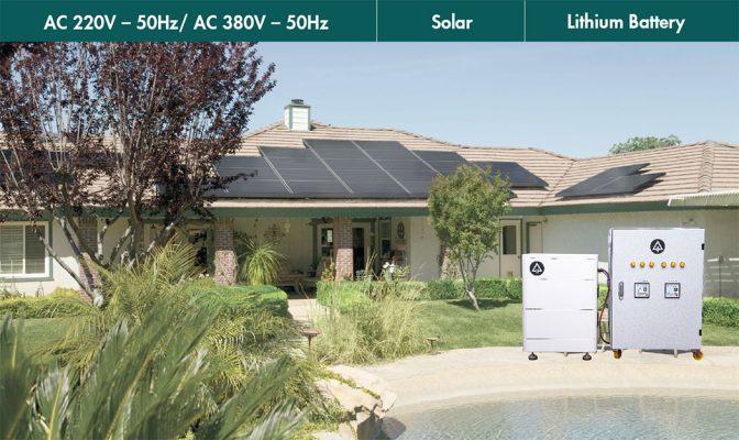 Bộ phát điện mặt trời hòa lưới 10kw lưu trữ 10kw ALENA BESS E10B10