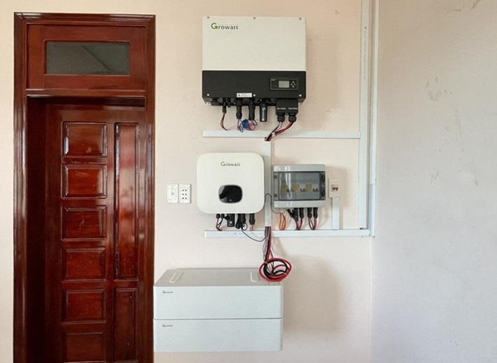 Hệ thống điện mặt trời lưu trữ dân dụng tại Bà Rịa - Vũng Tàu.